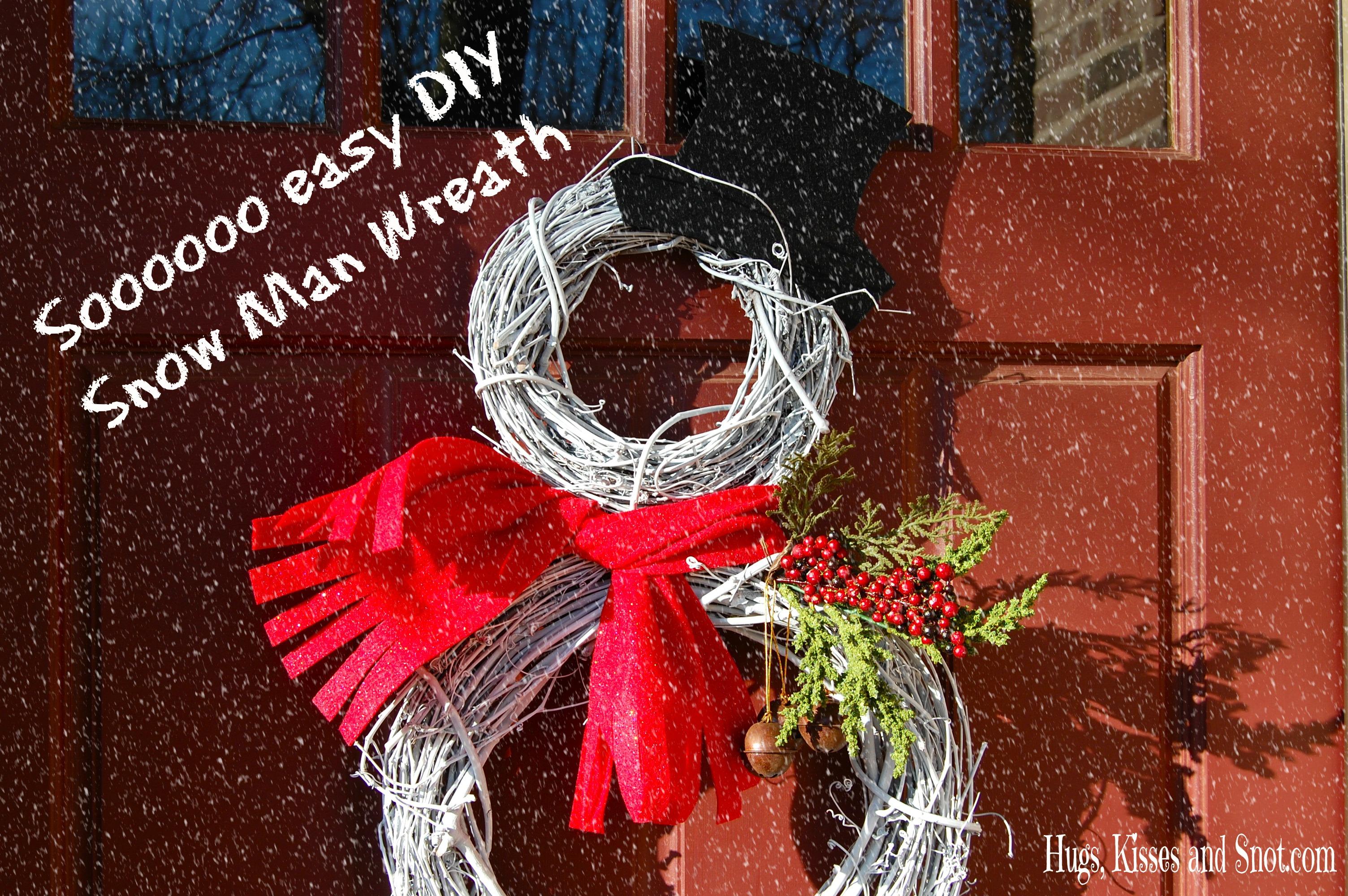DIY snow man wreath